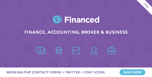 Financed - Finance Company HTML Template - Business Corporate