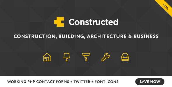 Constructed - Construction HTML Template - Business Corporate