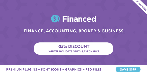 Financed - Finance Company WordPress Theme - Business Corporate
