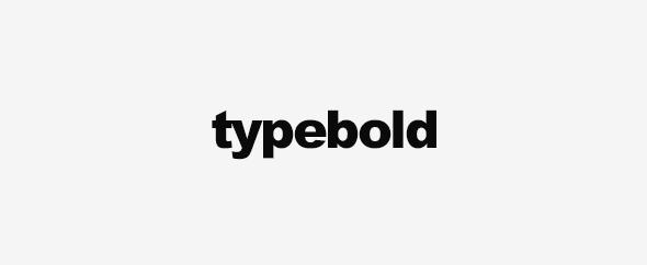 Typebold banner