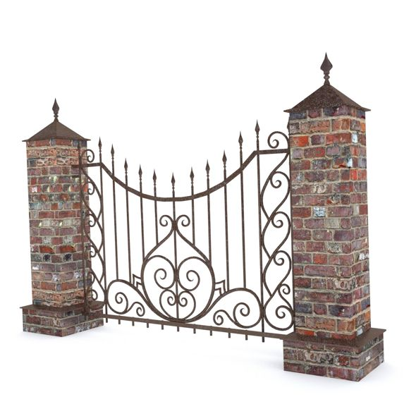 Wrought Fence - 3DOcean Item for Sale