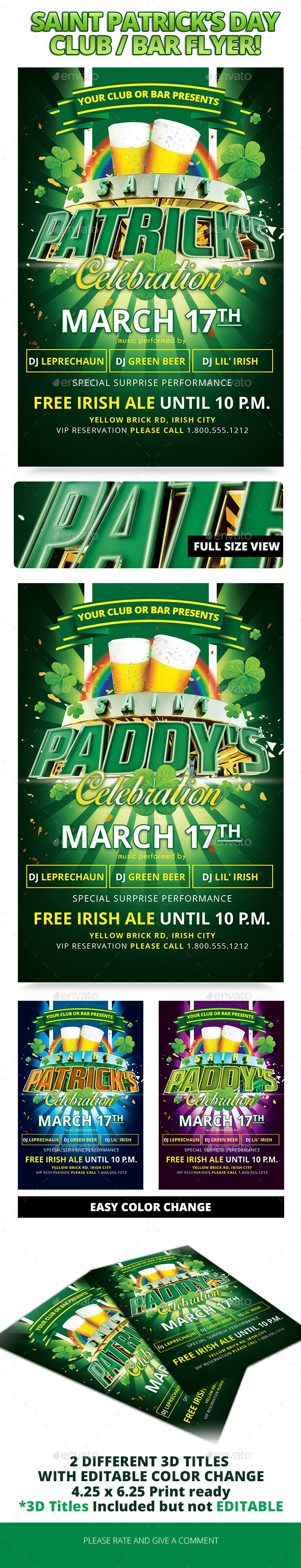 Saint Patricks Day 17 - Clubs & Parties Events