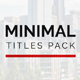 Minimal Titles 2 - VideoHive Item for Sale