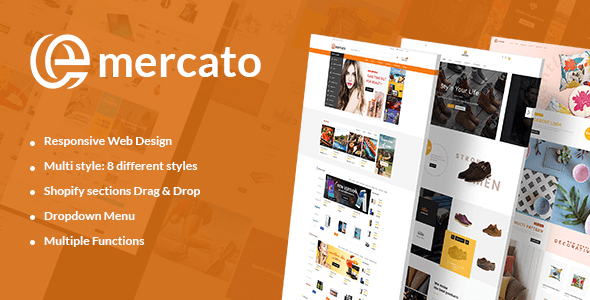 Emercato | Supermarket Responsive Shopify Theme - Multi-Styles & Niche Designs
