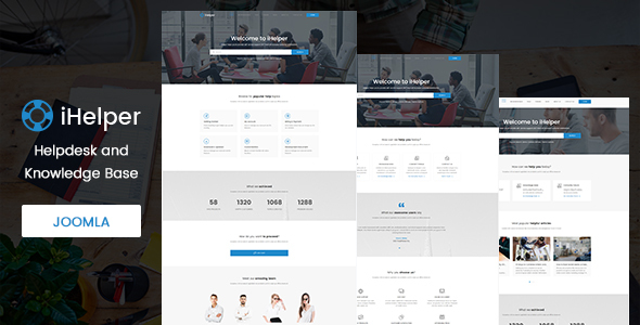 iHelper - Helpdesk and Knowledge Base Joomla Template - Software Technology