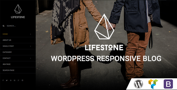 Lifestone WordPress Responsive Blog Theme - Personal Blog / Magazine