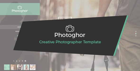 Photoghor – Creative Photographer PSD Template