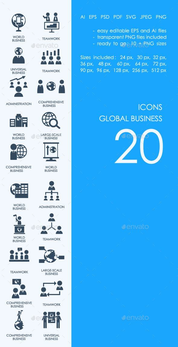 Global business icons - Business Icons