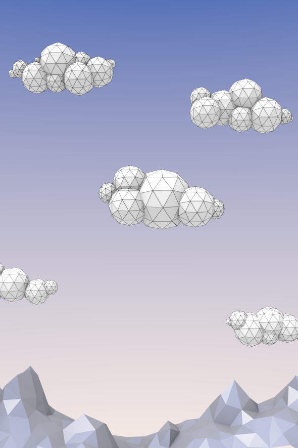 Low Poly Clouds Pack - 3DOcean Item for Sale