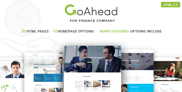 Go Ahead - Finance HTML Template (Startup, Business, Corporate)