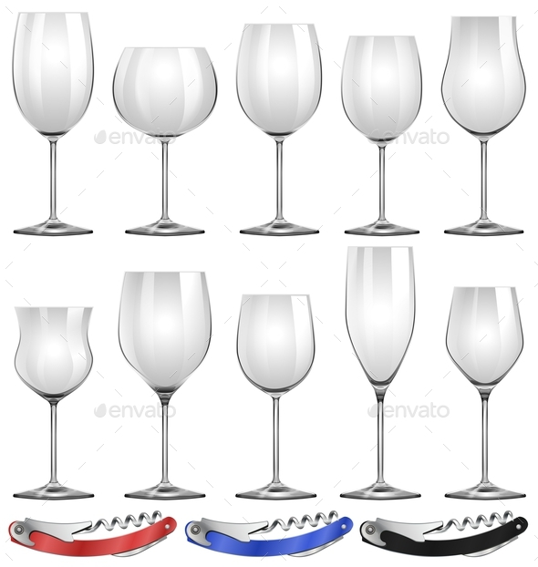 Wine Glasses and Can Openers - Man-made Objects Objects