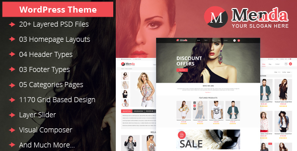 Menda eCommerce WordPress Themes