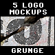 5 Grunge Logo Mockups Vol.1 - GraphicRiver Item for Sale
