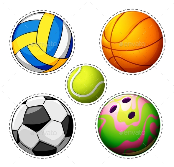 Different Types of Balls - Man-made Objects Objects