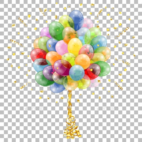Holiday Background with Balloons - Birthdays Seasons/Holidays