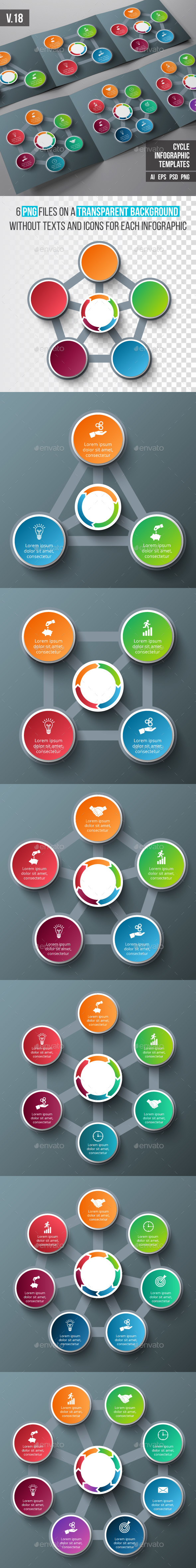 Infographics template set v.18 - Infographics