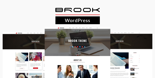 Brook – Responsive One Page WordPress Theme
