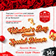 Valentine`s Day Menu Template - GraphicRiver Item for Sale