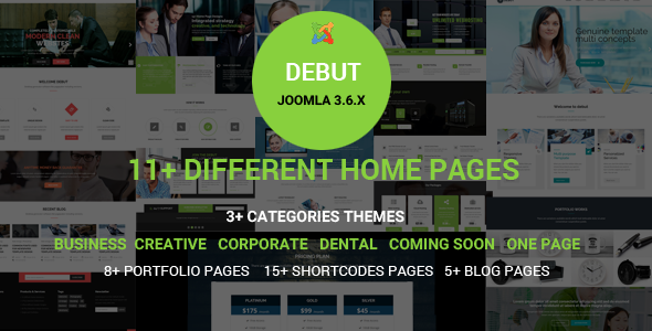 Debut - The Multi-Purpose Responsive Joomla Theme - Joomla CMS Themes