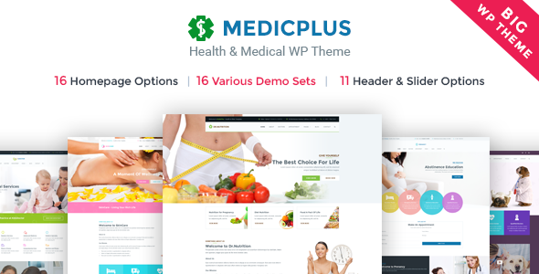 Medic Plus – Medical Responsive WordPress Theme (Health, Medic, Clinic)