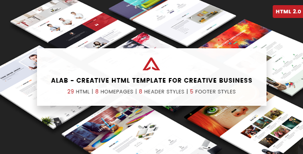Alab - Creative Agency Responsive HTML Template (Firm, Corporate, Studio) - Creative Site Templates