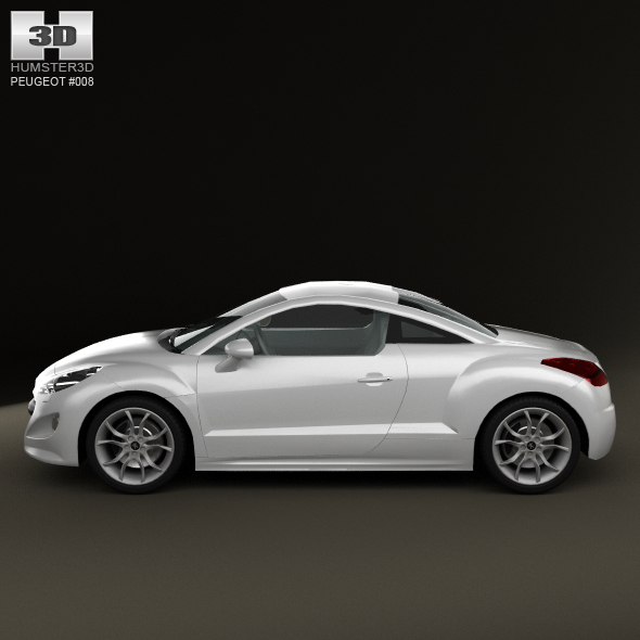 peugeot 308 rcz 2011 lowpoly by humster3d 3docean. Black Bedroom Furniture Sets. Home Design Ideas
