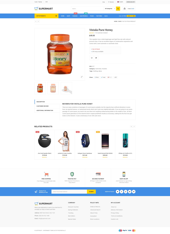 Supermart- Fresh Multi-Purpose Ecommerce PSD Template by TechMerea