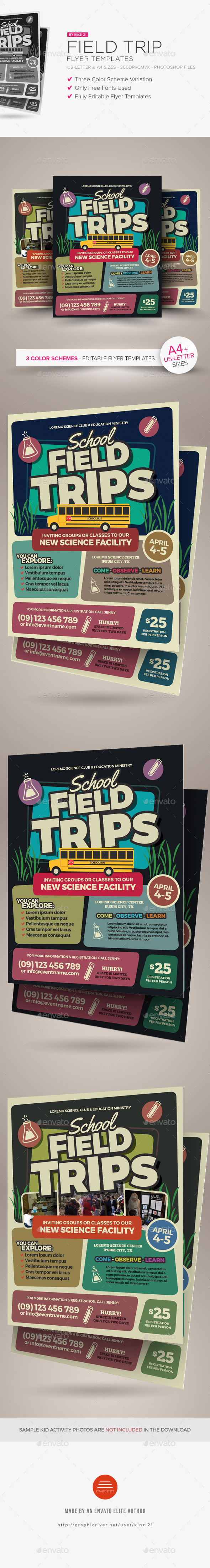 Field Trip Flyer Templates - Miscellaneous Events