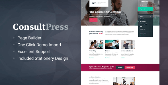 ConsultPress - WordPress Theme for Consulting and Financial Businesses - Business Corporate