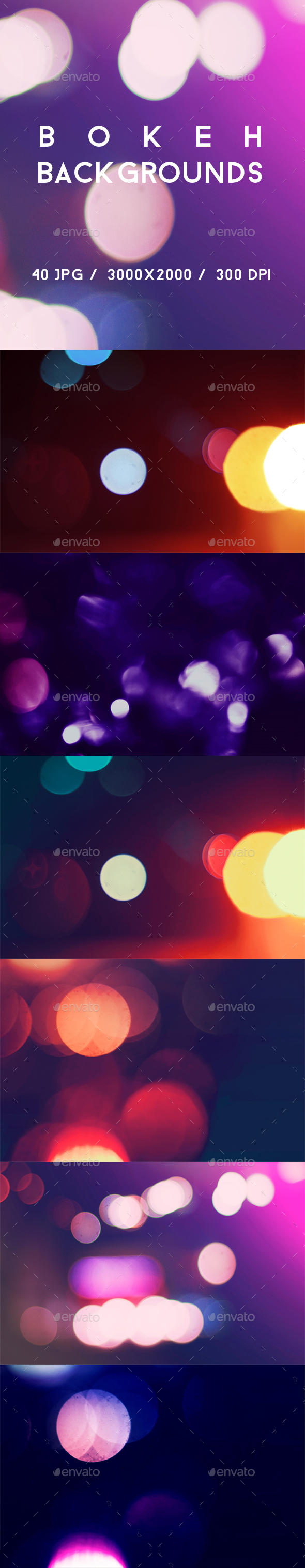 40 Bokeh Backgrounds - Abstract Backgrounds