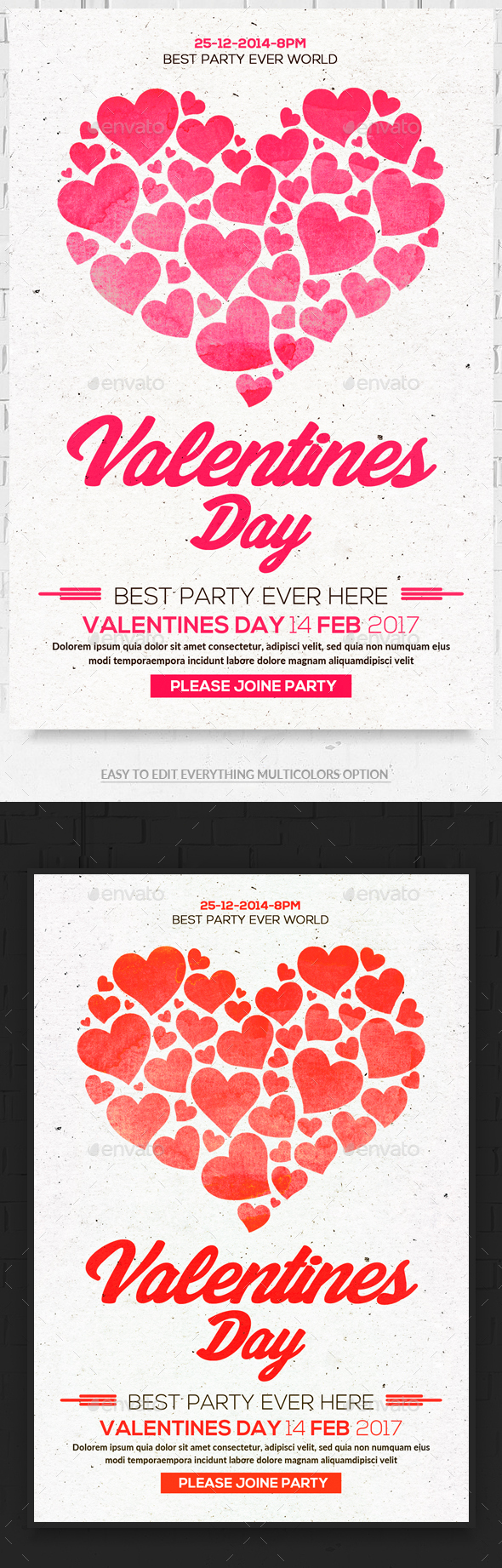 Valentines Flyer Psd - Clubs & Parties Events