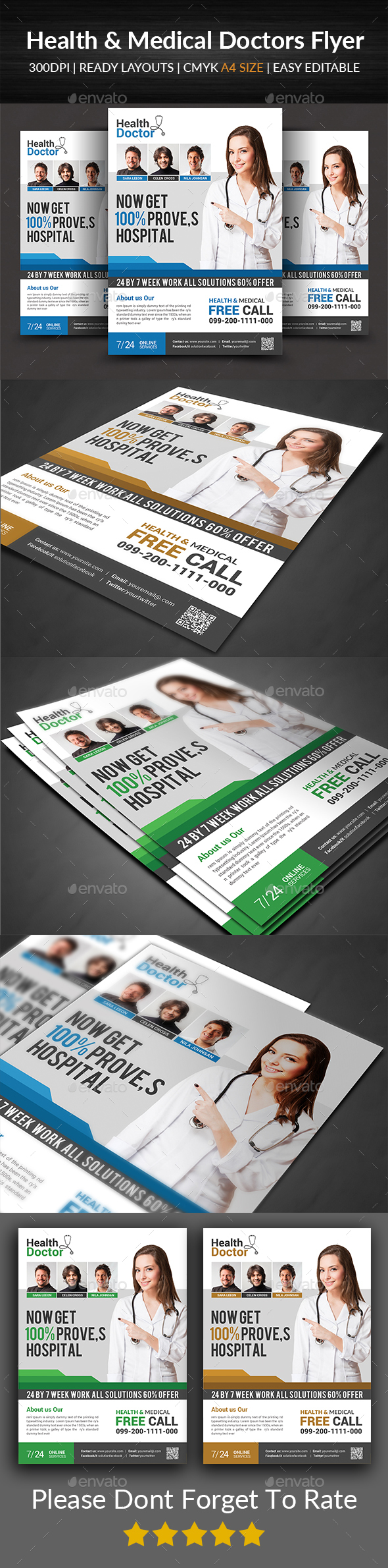 Health & Medical Doctors Flyer - Corporate Flyers