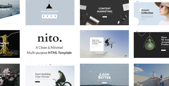 Nito - A Clean & Minimal Multi-purpose HTML Template - Creative Site Templates