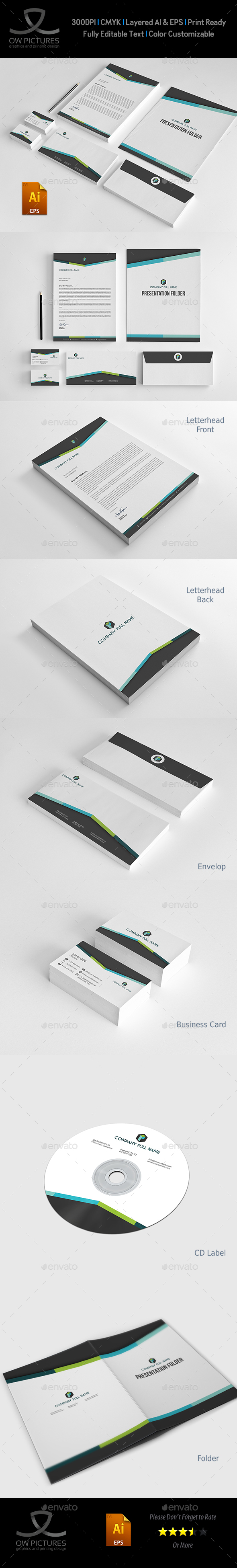Corporate Stationery Pack Design Template Vol.13