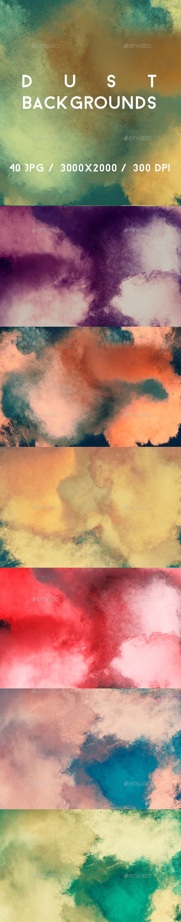 40 Dust Backgrounds - Abstract Backgrounds