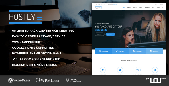 Hostly - Hosting & Domain Services Provider WP