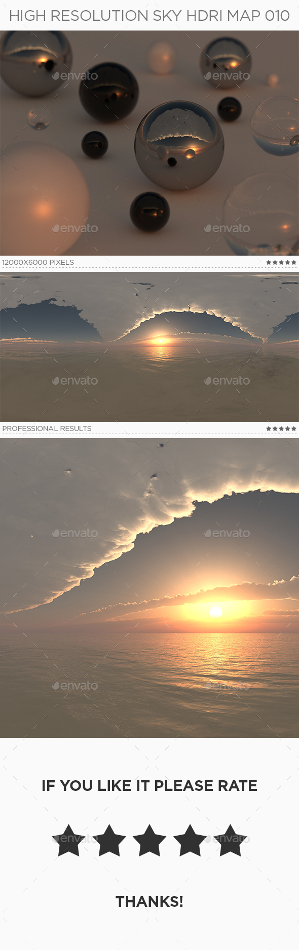High Resolution Sky HDRi Map 010 - 3DOcean Item for Sale