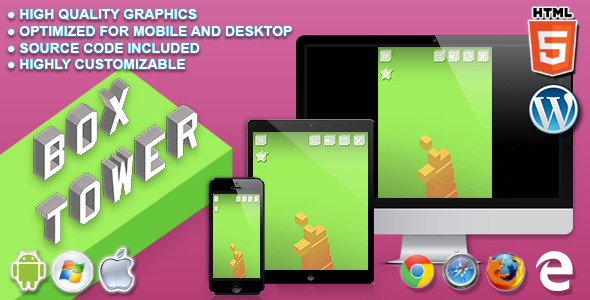 Box Tower - HTML5 Skill Game - CodeCanyon Item for Sale
