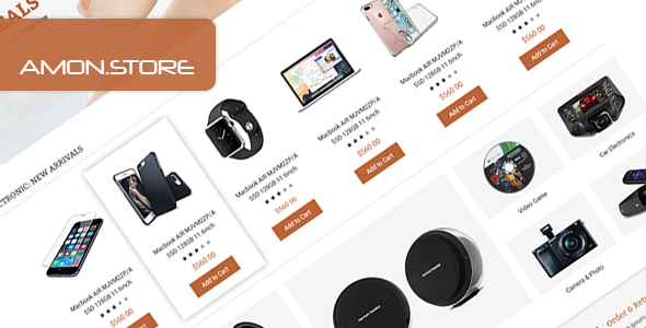 Amon – Multipurpose eCommerce PSD Template