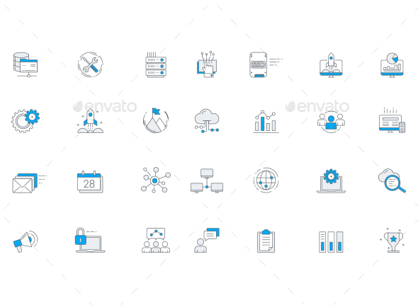 IT Services & Software Business Icon Set - Software Icons