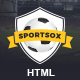 Sportsox | Sport Team Clubs HTML Template - ThemeForest Item for Sale