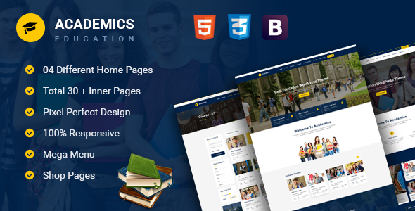 Academics – Education HTML Template