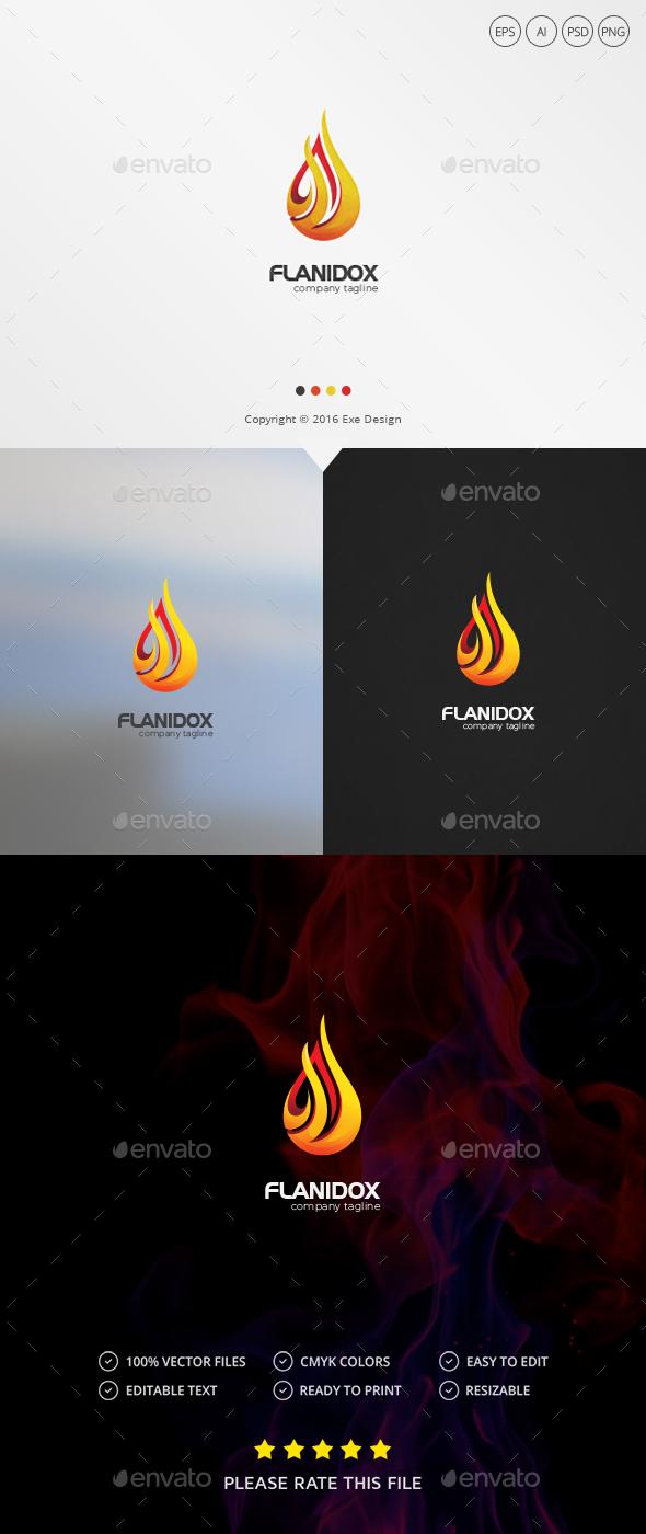 Fire Logo - Vector Abstract