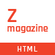 Zmagazine - News, Magazine & Blog HTML Template - ThemeForest Item for Sale