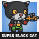 Super Hero Black Cat - GraphicRiver Item for Sale