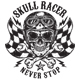 SKULL RACER T-SHIRT - GraphicRiver Item for Sale