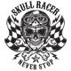 SKULL RACER T-SHIRT - GraphicRiver Item for Sale