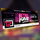 Retro Wave Facebook Cover Templates - GraphicRiver Item for Sale