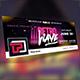 Retro Wave Facebook Cover Templates