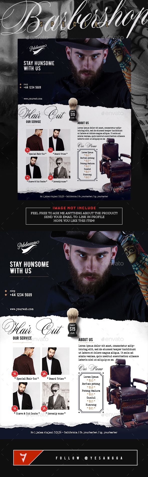 Barbershop Special Flyer - Commerce Flyers